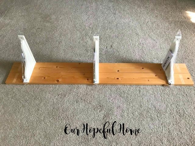 wood planks diy repurposed farmhouse shelves white corbels