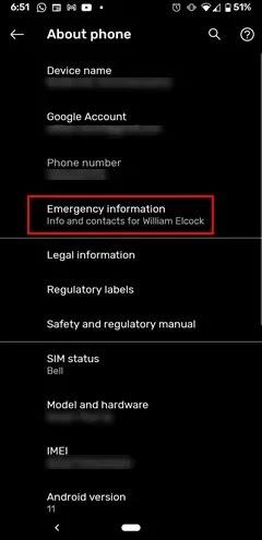 صورة Emergency Information