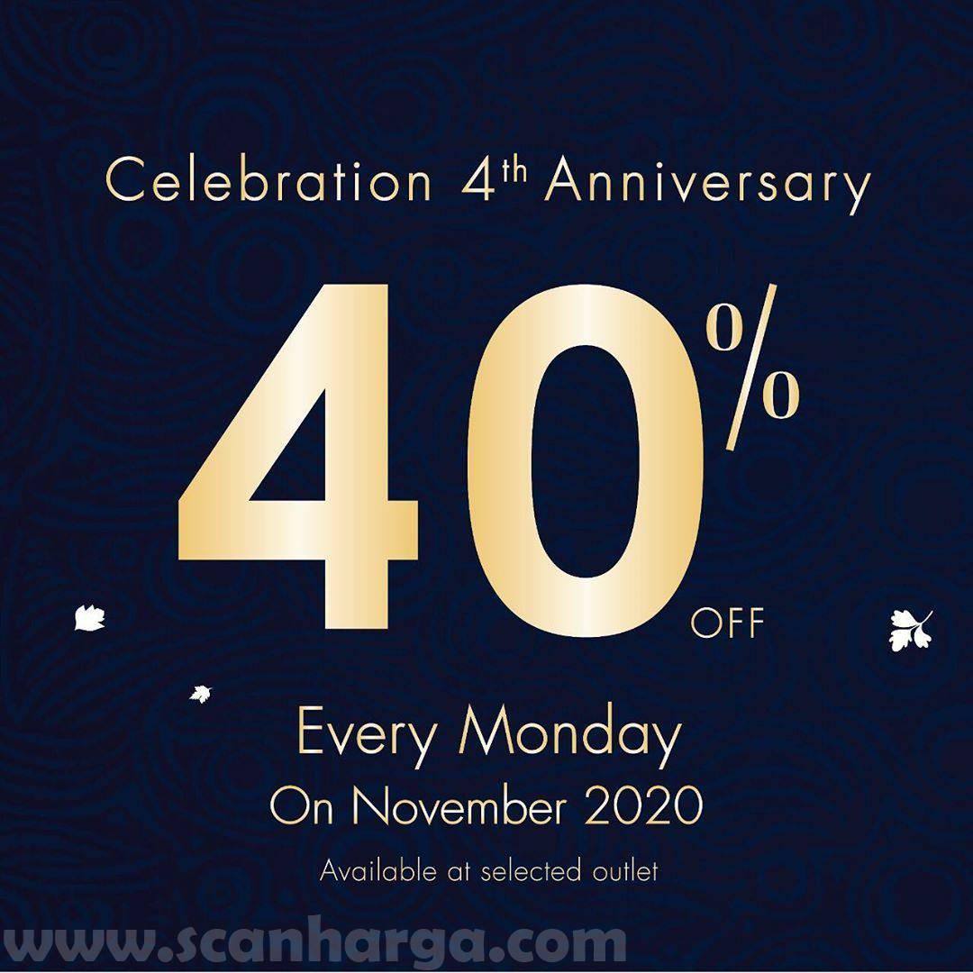 Sushi Hiro Promo 4th Anniversary Disc 40% Off [ Setiap Senin selama November 2020]