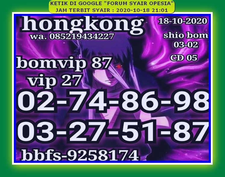 Kode syair Hongkong Minggu 18 Oktober 2020 47