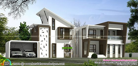 4 Bedroom ultra modern home plan
