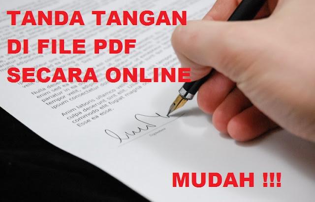 Cara Tanda Tangan di File PDF Secara Online