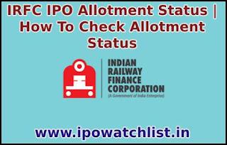 irfc allotment status