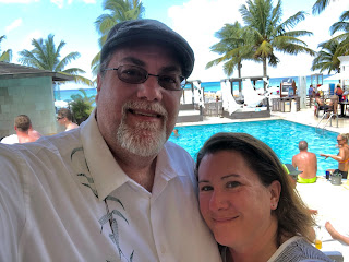 David Brodosi and wife on beach in Cozumel Mexico