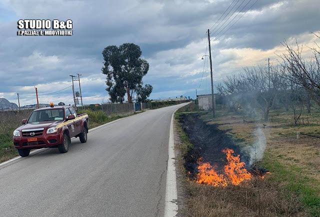 Πυρκαγιά στην Δαλαμανάρα Άργους