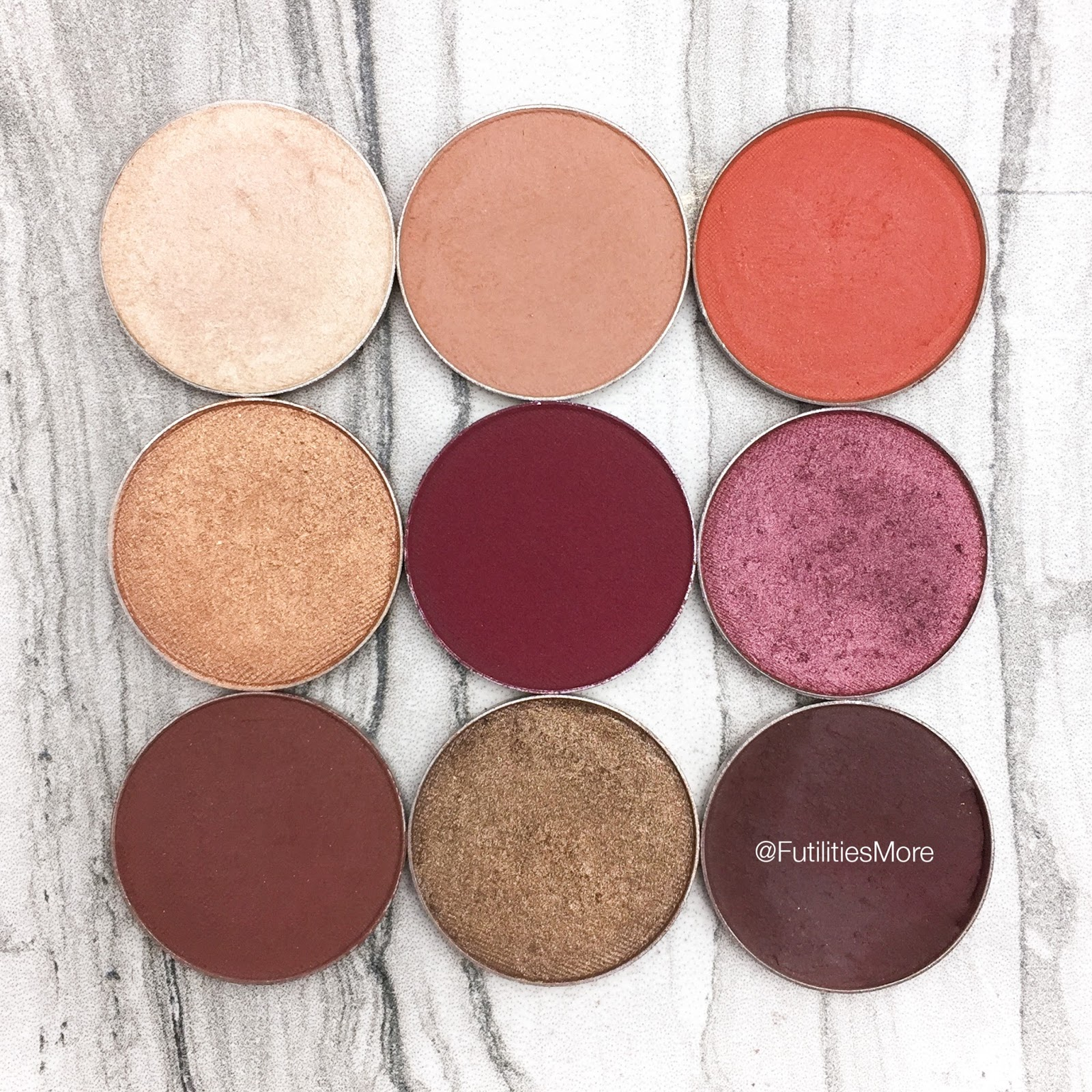 Kylie Cosmetics Burgundy Palette Dupes with Makeup Geek Cosmetics, Pictures and Swatches