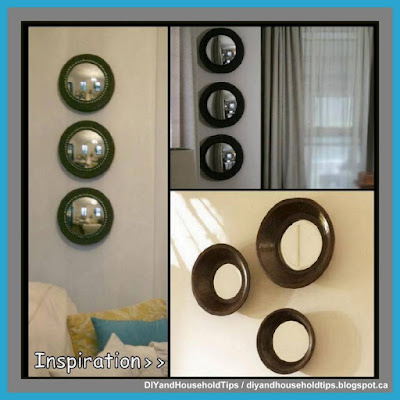 DIY Convex Mirror Using Dollar Store Styrofoam (A Pottery Barn Inspiration)