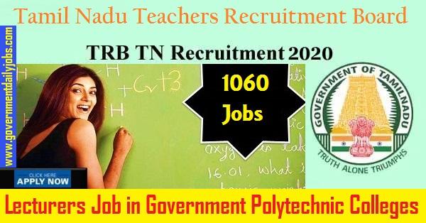 TRB Recruitment 2020 | Lectures Posts