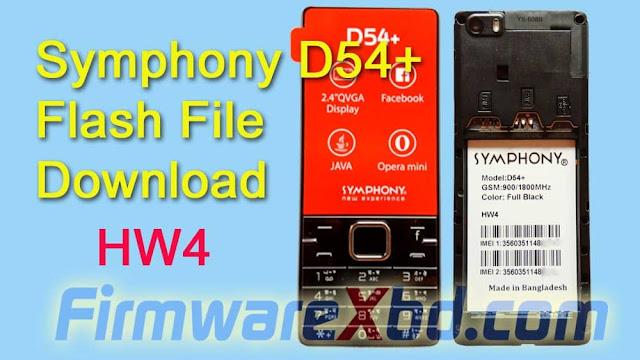Symphony D54+ HW4 Flash File Download