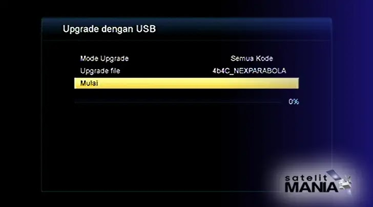 Cara Upgrade Firmware Receiver Nex Parabola