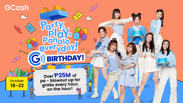 Party, Play, Panalo Everyday! Here's why we can't wait for the GCash GBirthday happening this October 18-22!