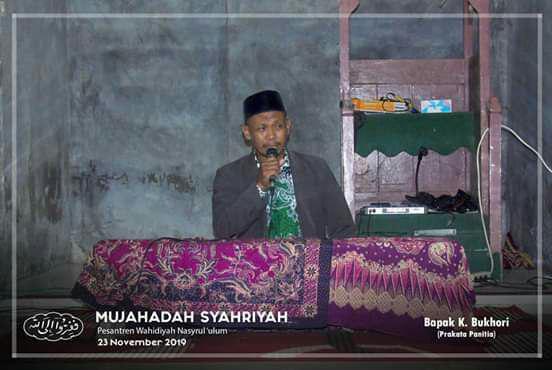Prakata Panitia oleh Bapak K. Bukhori, Ketua PSW Kec. Wonosalam Demak