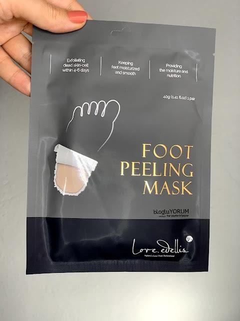 Love Edellis Foot Peeling Mask Ayak Peeling Maskesi limonian