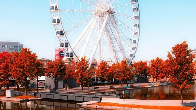 Outono, Parque de Diversão, Roda Gigante