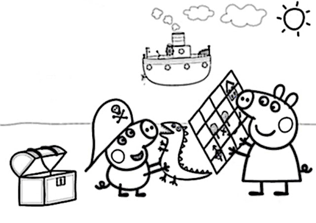 Kinder Ausmalbilder Peppa Wutz: Peppa Wutz Ausmalbilder 2 ♥ Ausmalbilder Kostenlos Ausdrucken