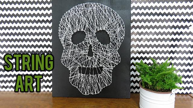 diy-quadro-string-art-caveira