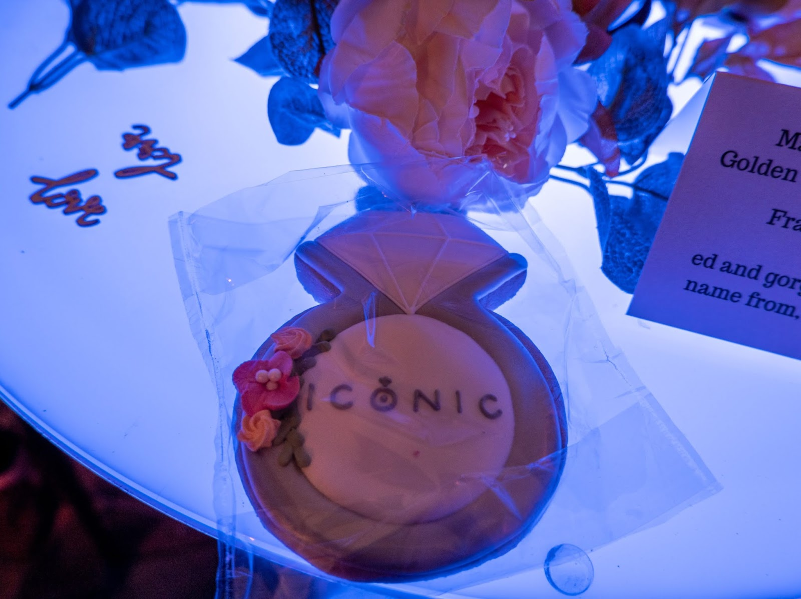 Iconic Jewellery Store cookie at the Wedding Collection launch in Canterbury, Kent