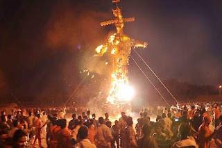 बुराई पर अच्छाई की जीत का प्रतीक दशहरा समनापुर में मनाया गया
