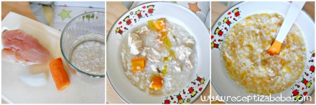 Piletina, riza i mrkva za bebe