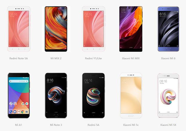 10 Ponsel Xiaomi Terbaik di 2017