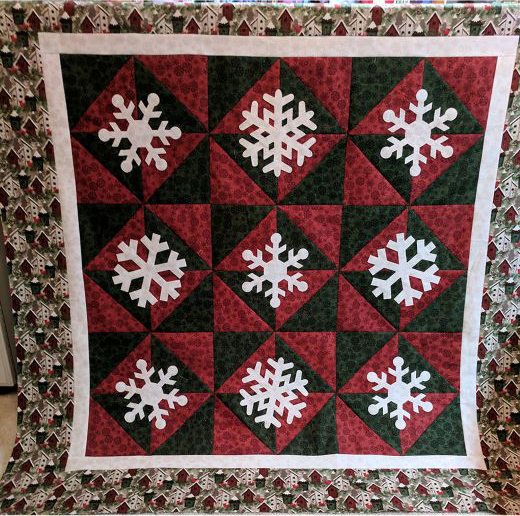 Snowfall Quilt designed by Accuquilt