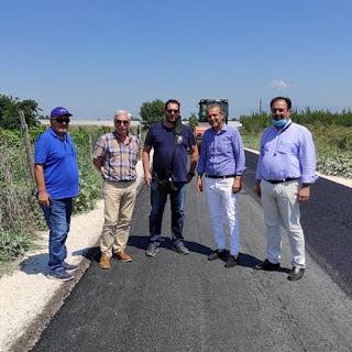 Ολοκληρώθηκαν οι εργασίες ασφαλτόστρωσης του έργου «Αγροτική οδοποιία στο αγρόκτημα Αγίου Γεωργίου του Δήμου Βέροιας».