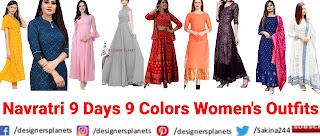 Navratri 9 days dress