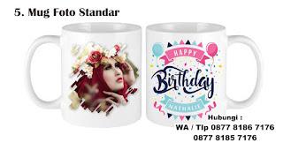 Mug Foto Standar yang dibeli secara online untuk hadiah kepada orang yang special Selama Social Distancing