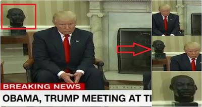 لماذا نقل #أوباما تمثال لوثر كينج إلى مكتبه قبل زيارة #ترامب بساعتين...مفاجأة صادمة !!!
