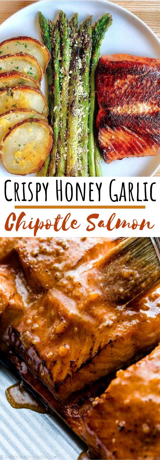 Crispy Honey Garlic Chipotle Salmon #healthy #keto