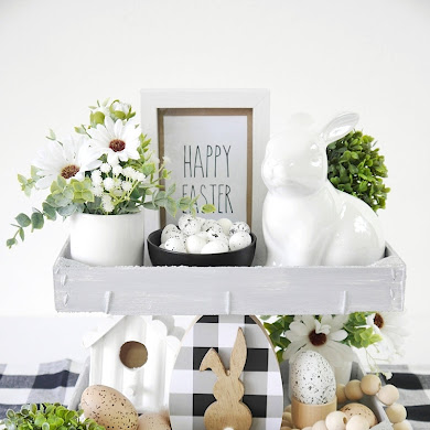 DIY Modern Farmhouse Easter Décor with FREE Printables
