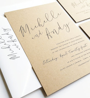 Cricket Printing wedding invitation on recycled paper