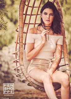 Kendall Jenner posing up a storm for Penshoppe clothing line