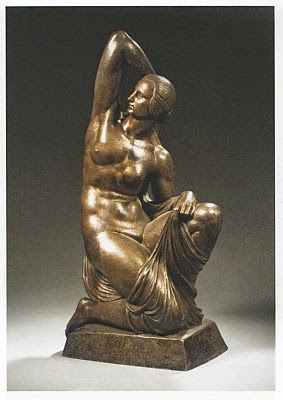 silvered bronze nude by Joseph Emanuel Cormier