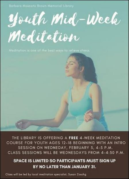 2-5 Free Teen Meditation Classes at the Library