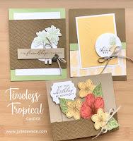 Stampin' Up! Timeless Tropical Card Kit ~ 2020 Spring Mini Catalog ~ www.juliedavison.com