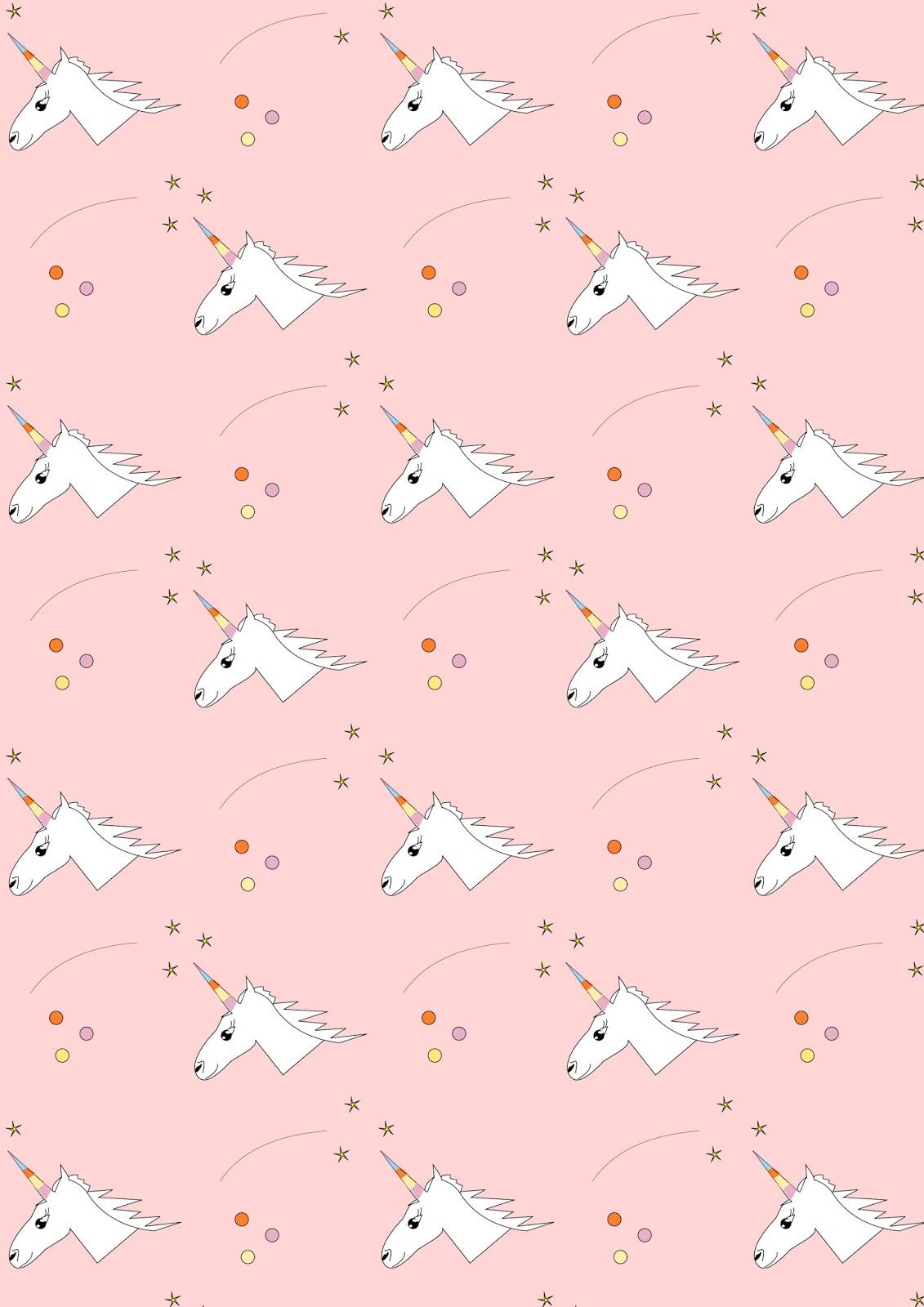 Free digital unicorn scrapbooking paper ausdruckbares for Cute paper designs