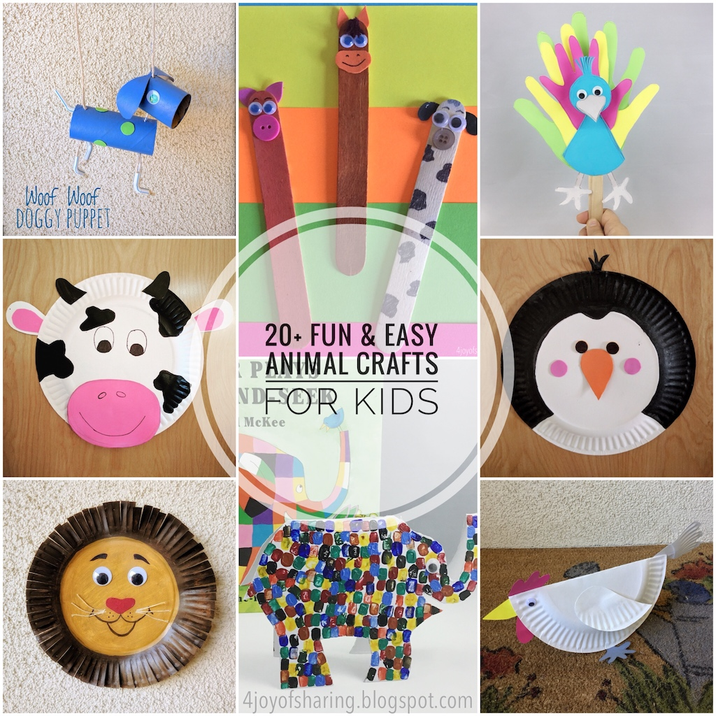 20 Fun And Easy Animal Crafts For Kids The Joy Of Sharing