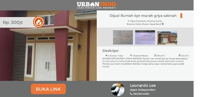 Info Rumah KPR Murah di Situs Urbanindo