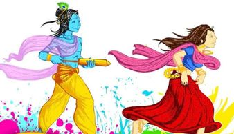 radha krishna playing holi images