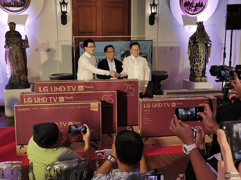 LG Philippines donates 6 OLED ThinQ AI TVs to Museo de Intramuros