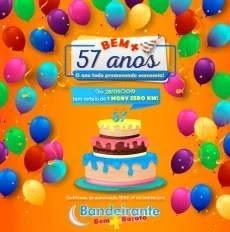 Promoção Bandeirante Supermercados 57 Anos Aniversário 2019 - Carro Zero Km Moby