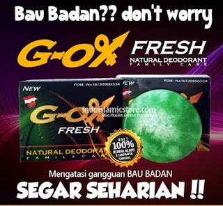G ox fresh natural deodoran obat penghilang bau badan herbal alami