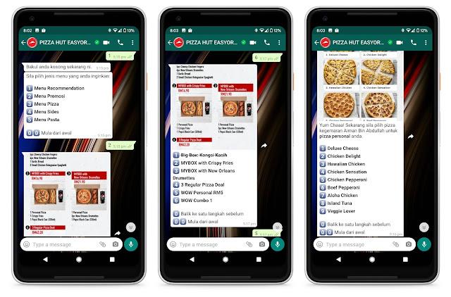 Kini Anda Boleh Buat Pesanan Pizza Hut Melalui Whatsapp Sahaja Dan Ikuti Caranya Disini
