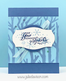 Stampin' Up! Shimmer Mist Snowflake Wishes Card ~ www.juliedavison.com #stampinup