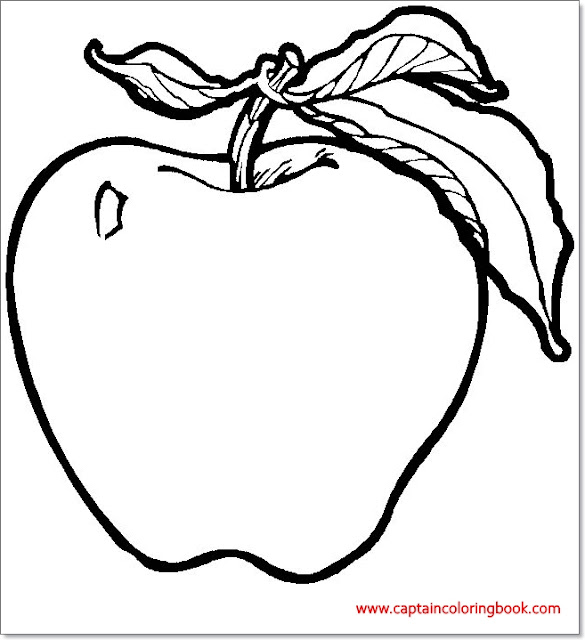 Coloring pages of apple for kids
