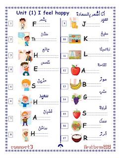 كراسة املاء لغة إنجليزية للصف الثالث الابتدائي منهج كونيت 3 ترم اول 2021