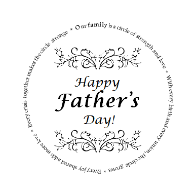 free fathers day badge digi digital image