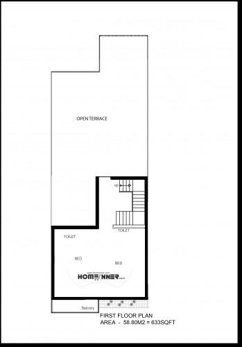 Kerala home design 2093 Sq Ft 4 Bedroom duplex house plan
