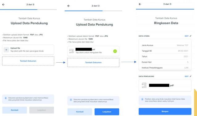 proses pengajuan Update Data Mandiri
